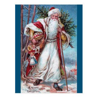 Father Christmas On His Way Postcard