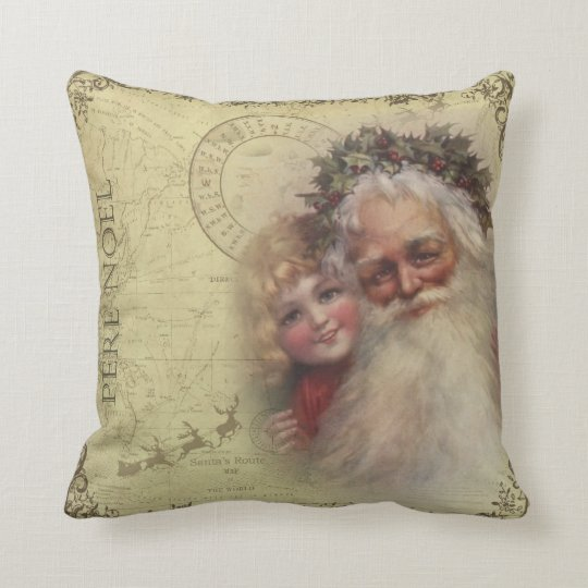 Father Christmas Pere Noel Santa Pillow
