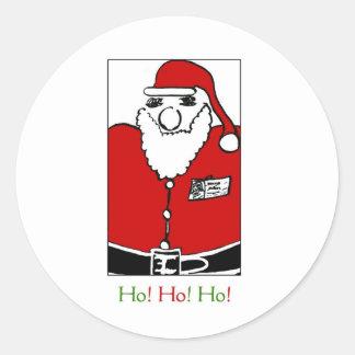Father Christmas Round Sticker