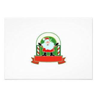 Father Christmas Santa Claus Custom Invitation