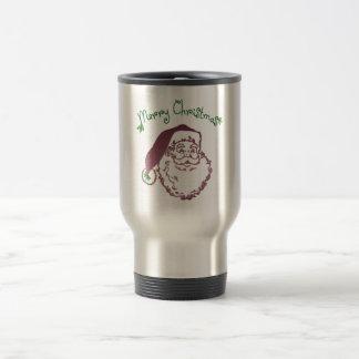 Father Christmas Traditional Art Travel Mug