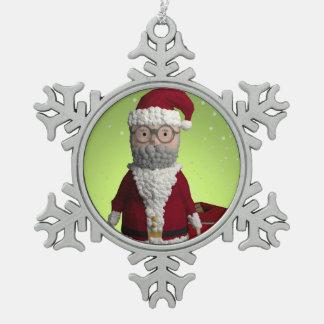 Father Christmas Tree Decoration Pewter Snowflake Decoration