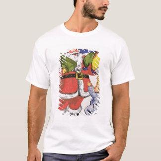 Father Christmas, Victorian Christmas card T-Shirt