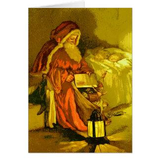 Father Christmas Vintage Christmas Greeting Greeting Card