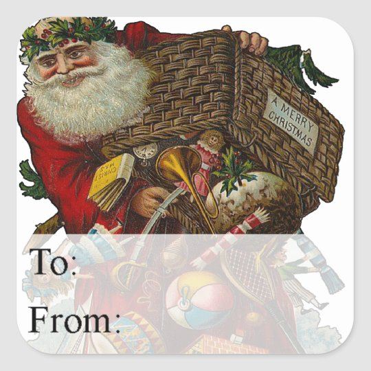 Father Christmas Vintage Gift Tag