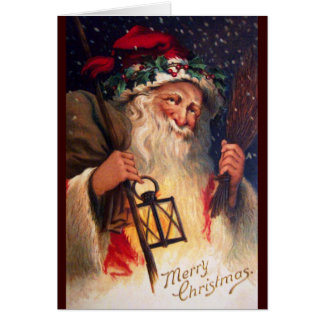 Father Christmas with Lantern Card