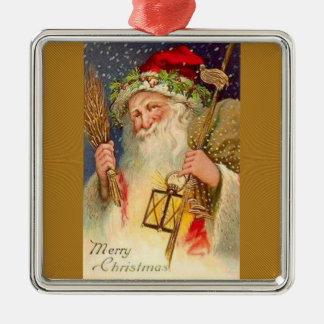 Father Christmas With Wheat And Lantern Christmas Ornament