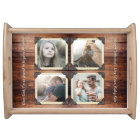Father Daughter Personalised Instagram Photo Grid Serving Tray