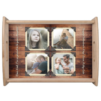 Father Daughter Personalized Instagram Photo Grid Serving Tray