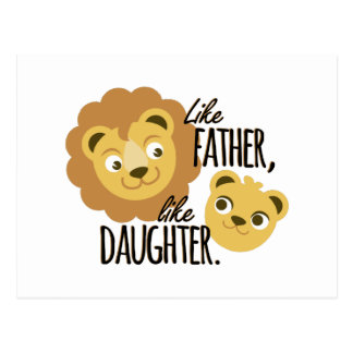 Father Daughter Postcard