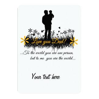 Father Day quote 13 Cm X 18 Cm Invitation Card