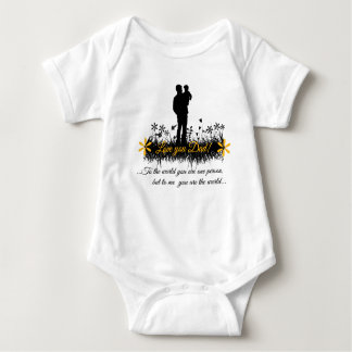 Father Day quote Baby Bodysuit