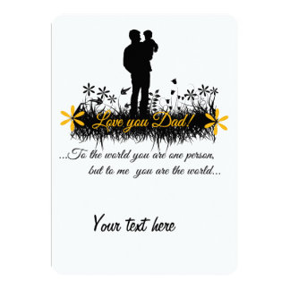 Father Day quote Custom Announcements