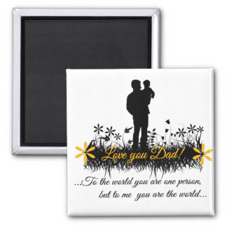 Father Day quote Square Magnet