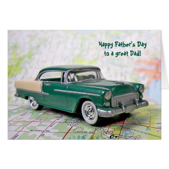 Father' Day Retro Car Card