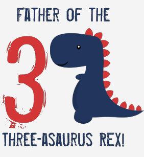 Father Dinosaur Birthday Shirt