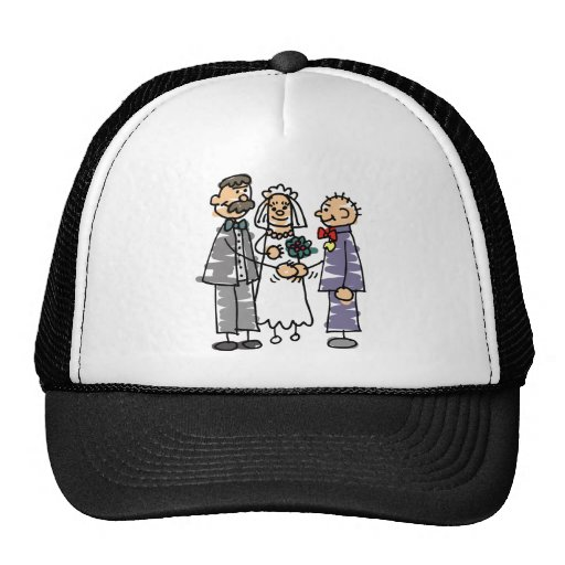 Father Gives Away Bride During Wedding Ceremony Trucker Hat