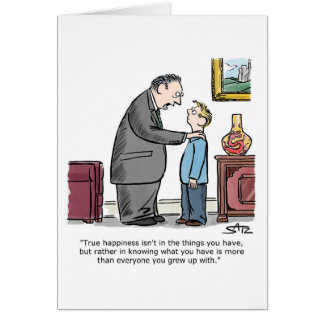 Father giving advice to son card