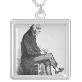 Father Goriot, illustration from 'Le Pere Silver Plated Necklace