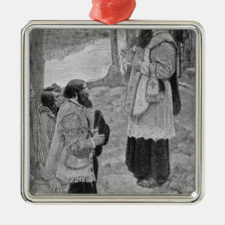 Father Hennepin Celebrating Mass Christmas Ornament