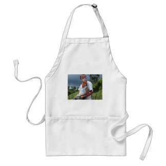 Father Holding daughter in Park Standard Apron