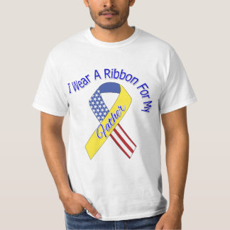 Father - I Wear A Ribbon Military Patriotic T-Shirt