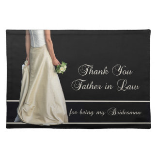 Father in Law Bridesman thank you Placemat