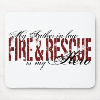 Father-in-law Hero - Fire & Rescue Mouse Pad
