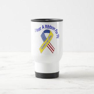 Father-in-Law - I Wear A Ribbon Military Patriotic Coffee Mug