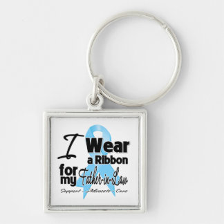 Father-in-Law - Prostate Cancer Ribbon Keychains