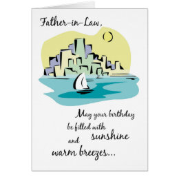 Father in law birthday gifts gift ideas zazzle uk father in law sailboat city birthday card bookmarktalkfo Choice Image