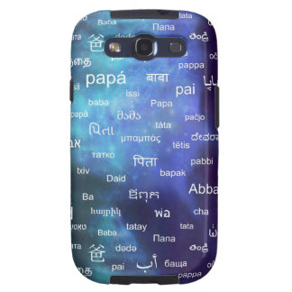 Father in many different world languages - Blue Samsung Galaxy SIII Covers