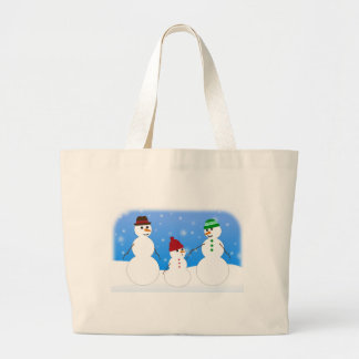 Father Mother and Baby- Snowman Family Tote Bag