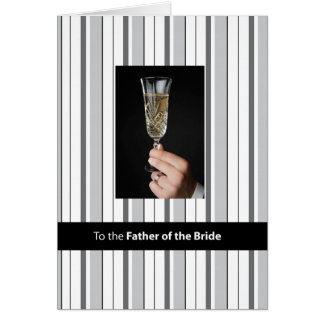 Father of Bride Champagne Toast, Thank You, Black Card