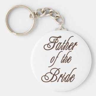Father of Bride Classy Browns Basic Round Button Key Ring