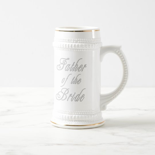 Father of Bride Classy Greys Beer Stein
