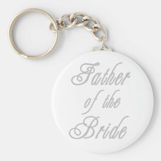 Father of Bride Classy Greys Basic Round Button Key Ring