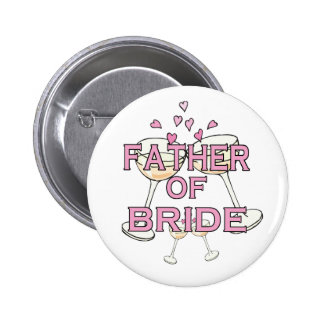 Father of Bride ID Pinback Buttons