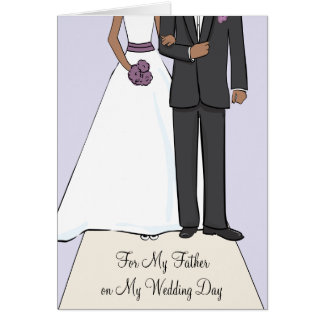 Father of the Bride African American Thank You Greeting Card