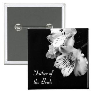 Father of the Bride Alstroemeria Lily Button