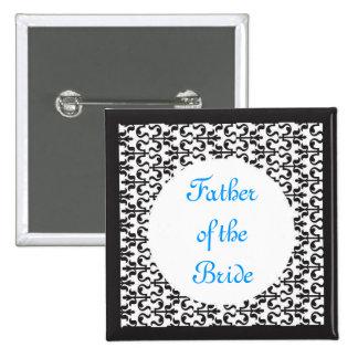 Father of the Bride 15 Cm Square Badge