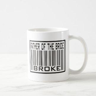 Father of the Bride Broke Basic White Mug