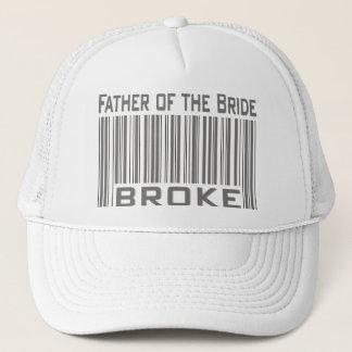 Father of the Bride Broke Trucker Hat