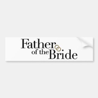 Father Of The Bride Bumper Sticker