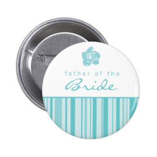 Father of the Bride Button-Modern Stripes Blue