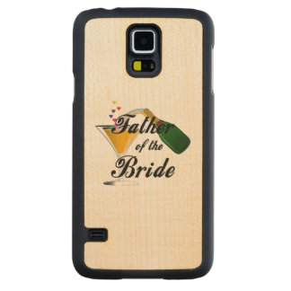 Father of the Bride Champagne Toast Carved® Maple Galaxy S5 Case