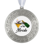 Father of the Bride Champagne Toast Round Decoration