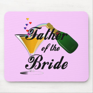 Father of the Bride Champagne Toast Mouse Pad