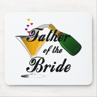 Father of the Bride Champagne Toast Mousepad