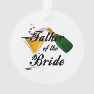 Father of the Bride Champagne Toast Ornament